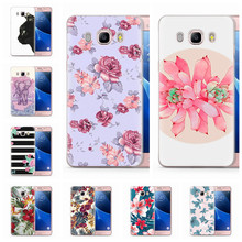 Coque For Funda Samsung Galaxy J5 2016 Case J510 J510F TPU Colorful Soft Flora Cat pink Heart Painted Case Q042(China)