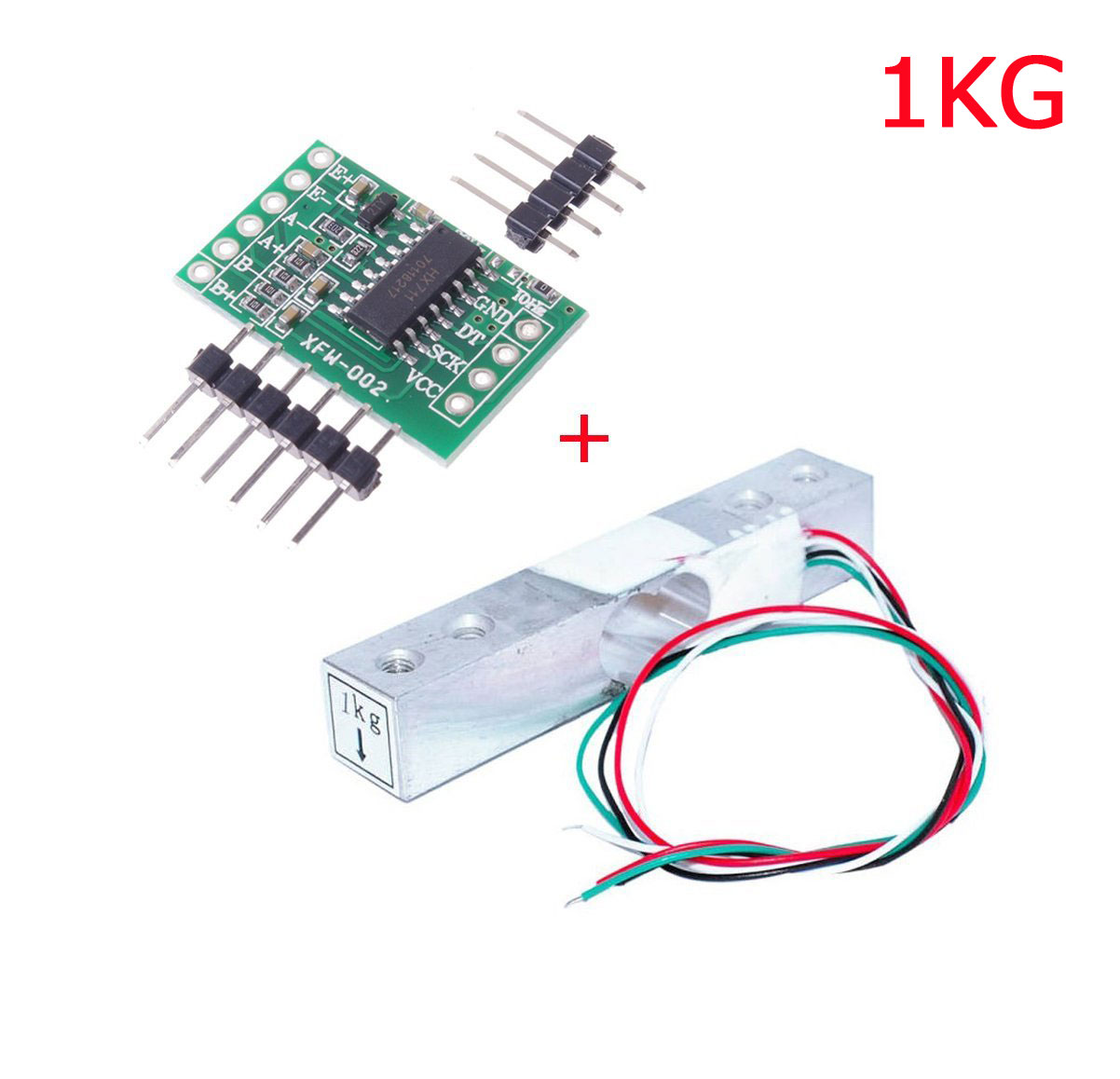 Digital Load Cell Weight Sensor 1KG Portable Electronic Kitchen Scale + HX711 We