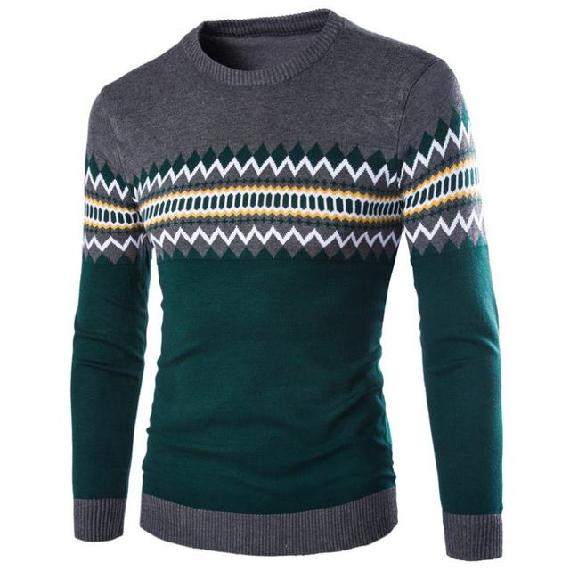 Men's Knitted Sweater Patterns Striped  4