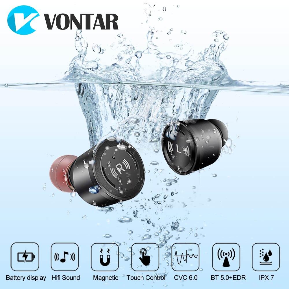 VONTAR S5 Bluetooth 5.0TWS preuve de L'eau Mini Sans Fil Oreille bourgeons Jumeaux Écouteurs Casque Avec Batterie Cas Mains Libres Casques