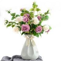 Modern Contracted Style Ceramic Flower Vase Tabletop Vases Home Decoration Accessories Modern Floor Vase Household Adorn