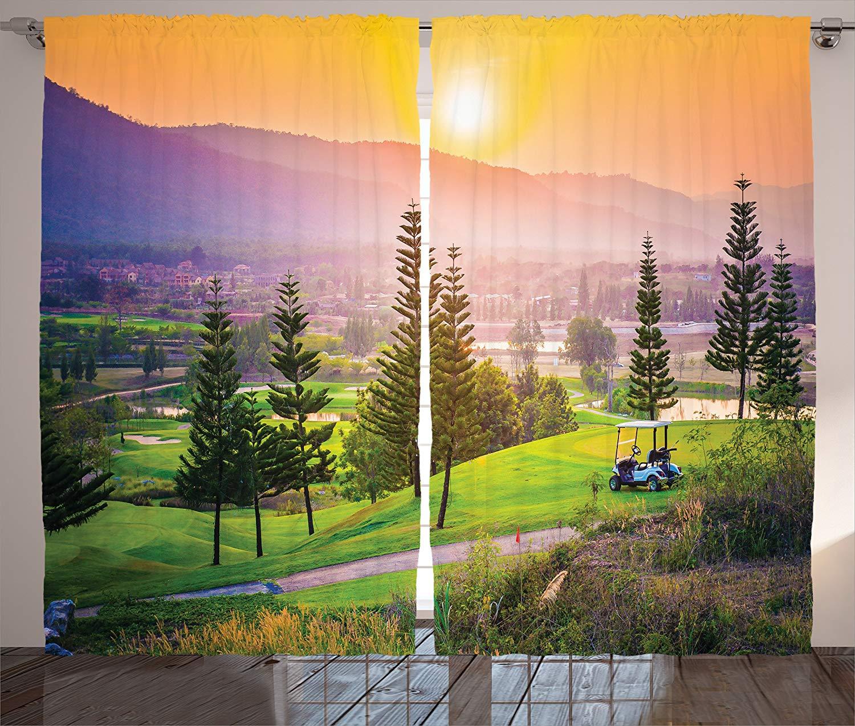 Farm House Curtains Vibrant Golf Resort Park In Spring