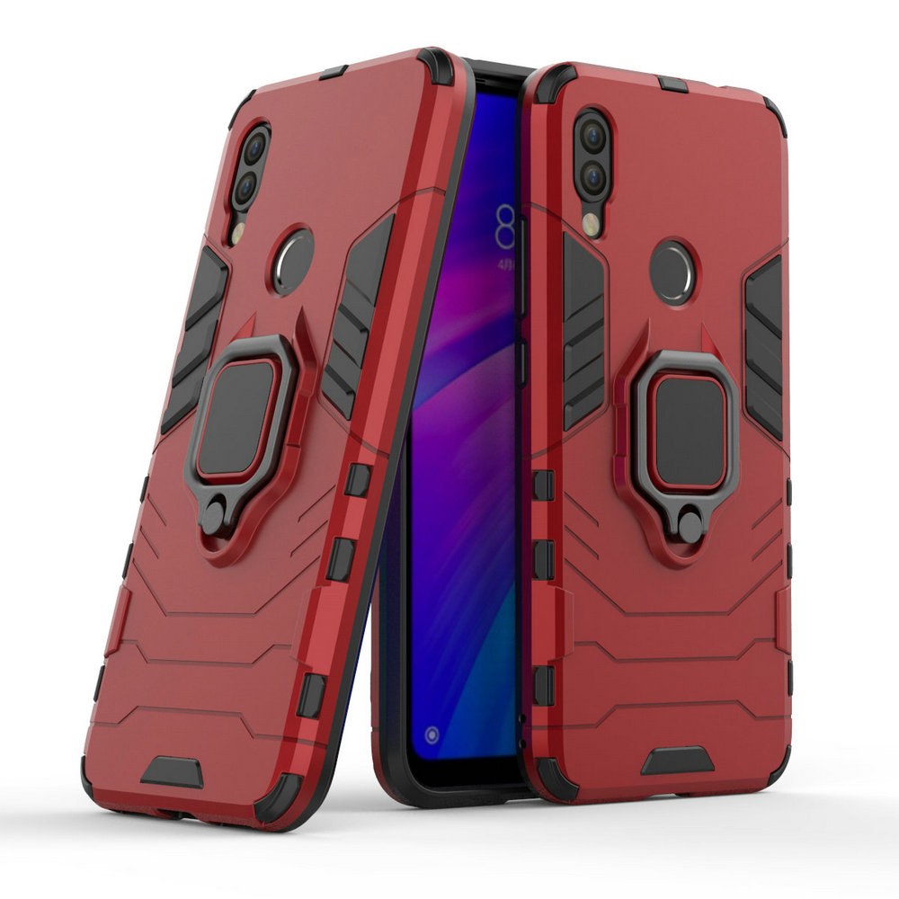 3D Ring Armor Case for <font><b>Xiaomi</b></font> Redmi <font><b>7</b></font> Redmi7 for <font><b>Xiaomi</b></font> Redmi <font><b>Note</b></font> <font><b>7</b></font> Pro 16GB 32GB 64GB Car Holder Phone Back Cover Case Fundas image