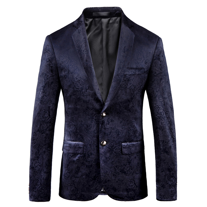 2018 mens casual corduroy pattern suit fashion large size England casual business jacket high-grade corduroy small suit