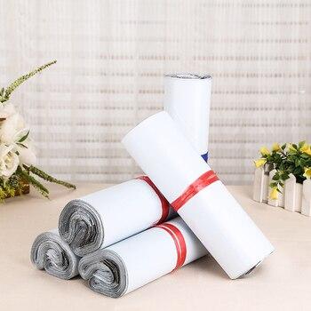 20*26 + 4 cm, 50 sztuk/Biały samoklejące Samoprzylepne Kurier torby Do Przechowywania Torby Plastikowe Poli Koperty Mailer Pocztowa Wysyłka Torby Dyskusyjne