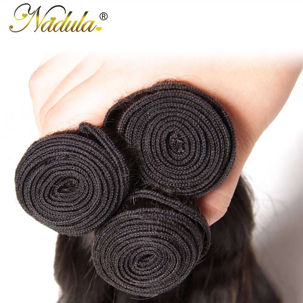Nadula Body Wave Bundles With 4*4 Free Part/Middle Part/Three Part Lace Closure Indian Hair  Hair Bundles With Closure 4