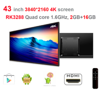 43 Inch Android 4K All In One Pc 3840 2160 Quad Core 1 8Ghz Android5 1
