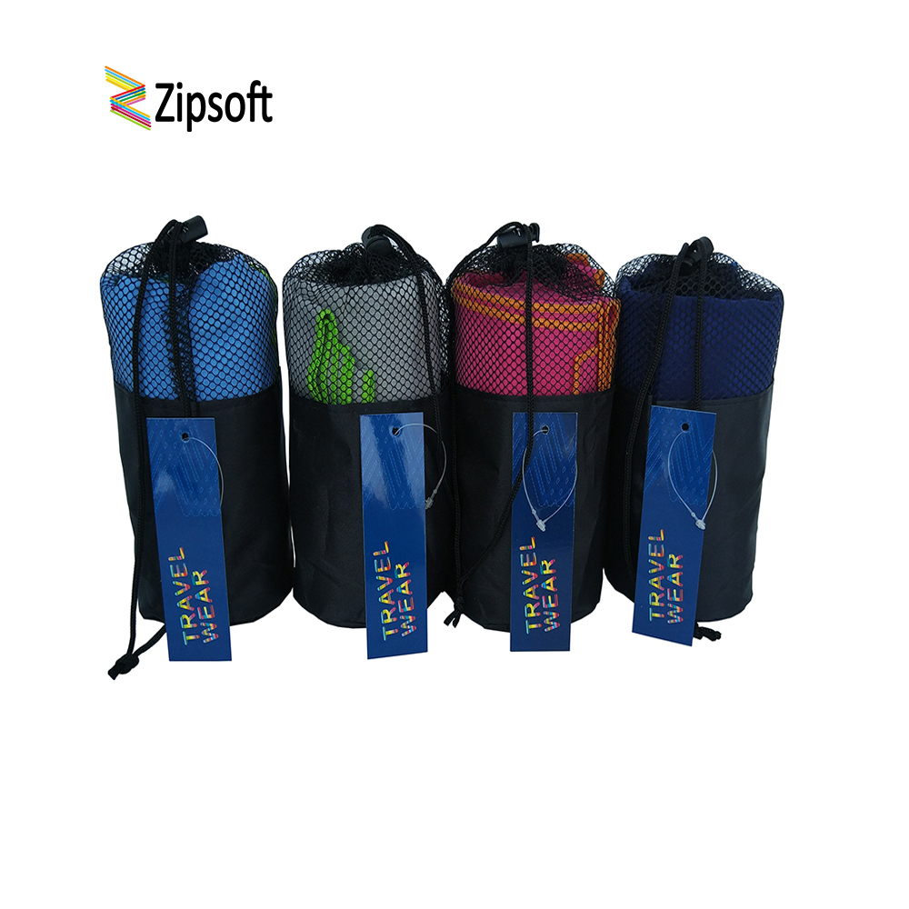 Zipsoft Beach Towels With Bag Gym Sports Microfibre Wraps Mat Adults Swimming Pool Travel Camping Hair Quick Dry Sports Washrag