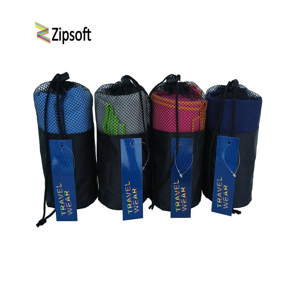 Toalhas de Praia com Bolsa de Ginásio de Esportes de Microfibra Zipsoft Wraps Adultos Piscina Viagem Camping Esportes Quick Dry Cabelo Washrag Mat