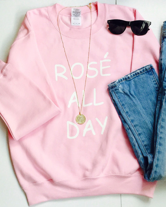 Rose All Day Women Fashion Pullover Casual  Tumblr Girls Tops Blusa Tumblr Girl Rose All Day Sweatshirt Drop Ship