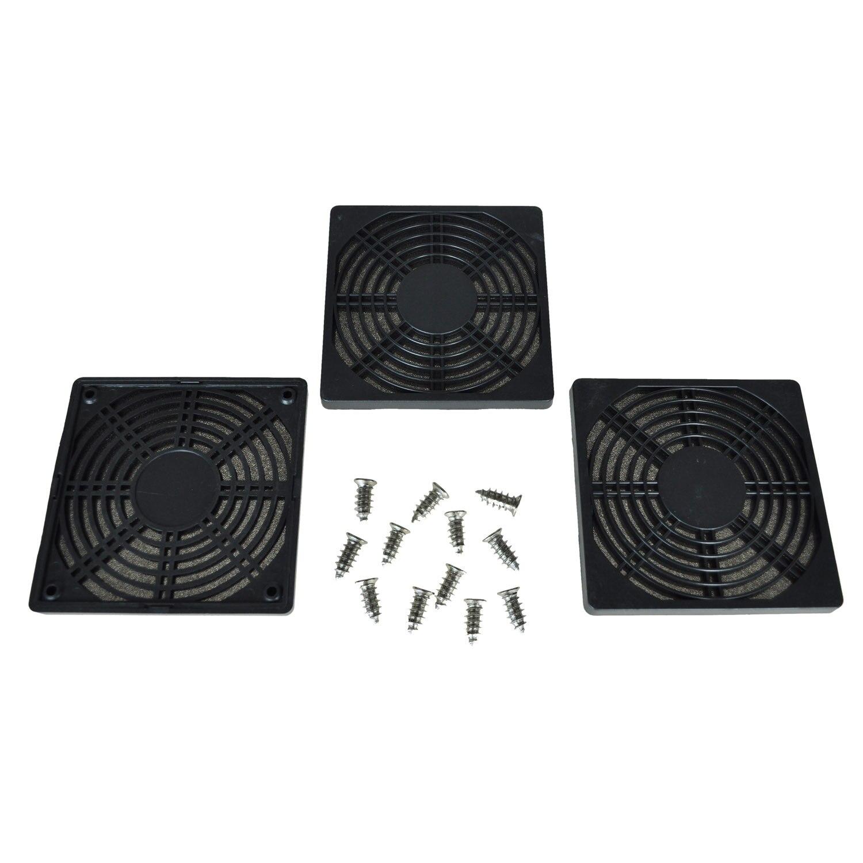 12 pcs Screws 120 mm Fan Dust Filter Dustproof Screen PC Computer Case Mesh PC Case Fan Dust Sponge Filter Black