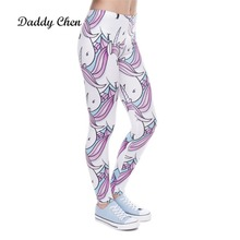 a03ccddf57f Women Leggings Fashion Unicorn Leggings Fitness Legging Sexy Pants High  Waist Push Up Shiny 3d Printed. 5 Colors Available