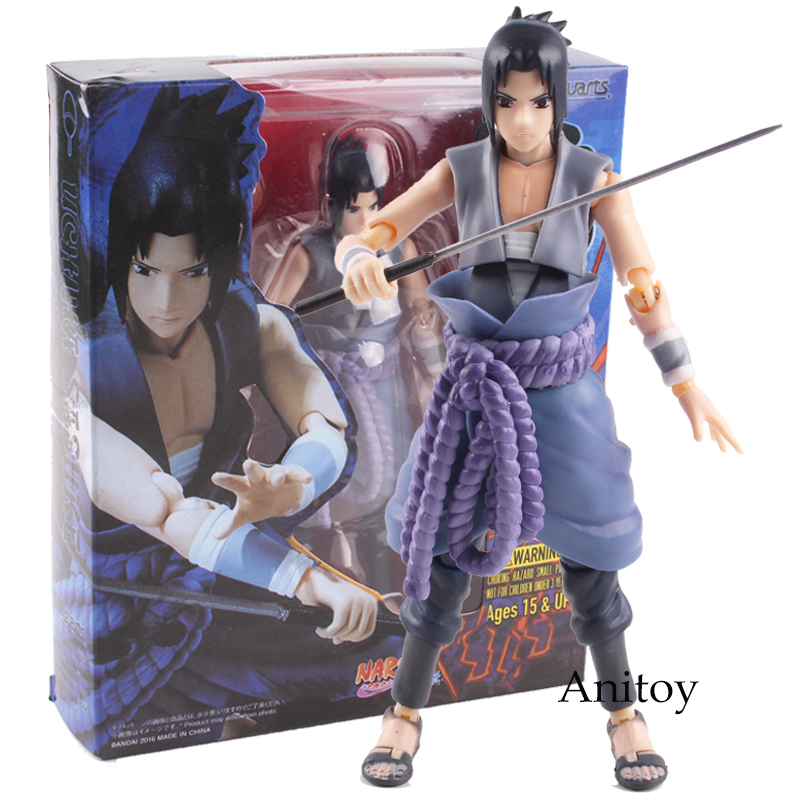 S.H.Figuarts Naruto Shippuden Ation Figure Sasuke Figure Simple Style and Hero PVC Ation Figures Collectible Toy Gift 14.5cm naruto action figures uchiha obito rikudousennin sharingan pvc model toy naruto shippuden movie anime figure obito light diy69