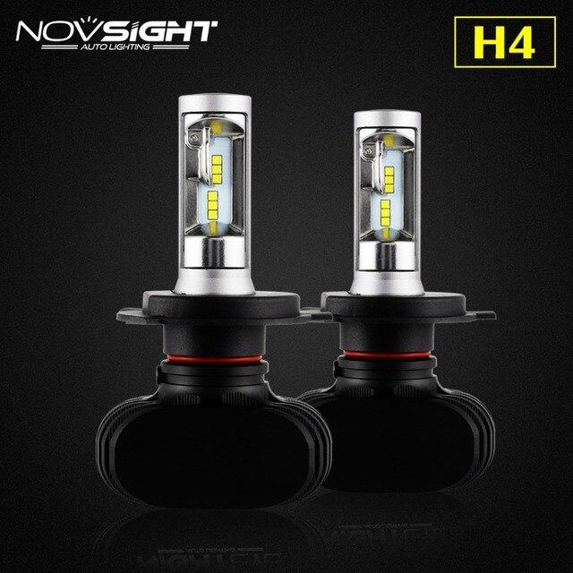NOVSIGHT H4/9003/HB2 50 W/set 25 W 8000LM Blanc 6500 K CSP led Brouillard Lampe Ampoule Auto conversion de Phare de voiture H4 salut/lo Faisceau D45