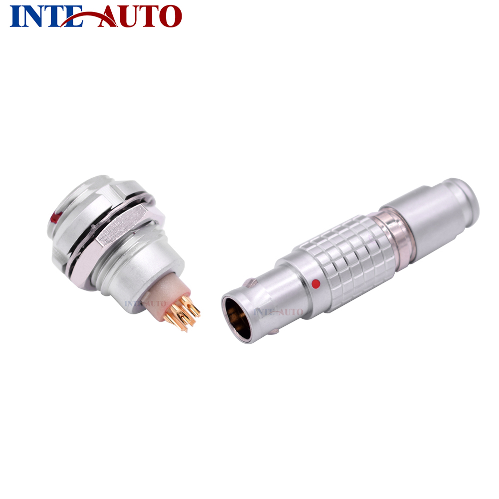 LEMOs Connector,Substitute 1B series M12 size, 2,3,4,5,6,7,8,9,10,14 pins, Metal electrical male female connector,FGG ECG lemos cable plug 4 pins metal push pull circular wire conector m12 size 1b series solder contacts rohs approved fgg 1b 304