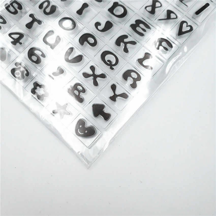Venda quente Inglês alfabeto Transparente Claro Selos/Selos Selo Do Rolo de Silicone para DIY scrapbooking álbum de fotos/Cartão Que Faz
