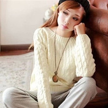 Free Shipping Winter Fashion Wool Vintage Women Pullovers Sweater Knitted Sweaters All-match Lolita Lovely Sweater