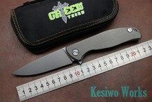 Lo nuevo cuchillo Plegable lámina D2 aleación de titanio manejar f95 flipper teniendo faca EDC del cuchillo de bolsillo acampar al aire libre herramienta de mano