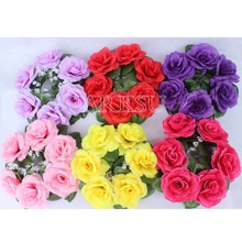 10pcslot 20cm artificial rose flower wreath small christmas wreath flower garland candle ring wedding