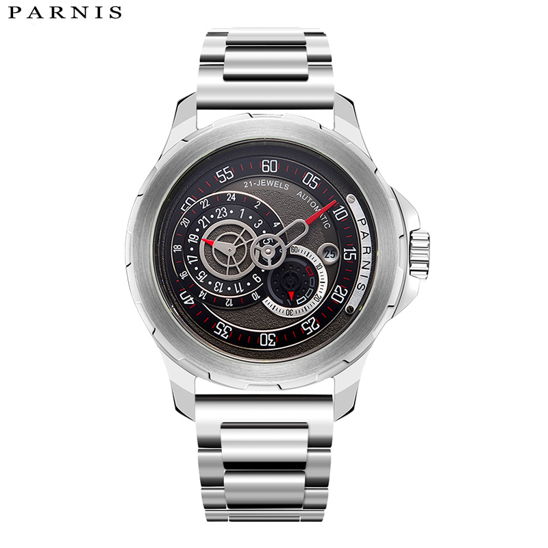 PARNIS Heren Horloges 2017 Luxe Merk 44mm Mechanische Horloges - Herenhorloges