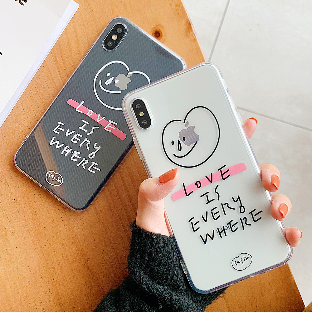 KIPX1103_9_JONSNOW Phone Case For iPhone 6S 7 8 Plus Love Pattern Clear Soft Silicone Cover Cases for iPhone X XR XS Max Capa Fundas