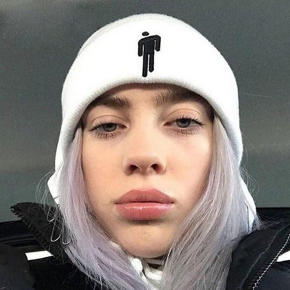 2019 Billie Eilish   Beanies   Hats Cuffed Plain   Beanie   Warm Knitted Winter Hats for Men Women Solid Hip-hop Toca Gorro TTM-CZX5