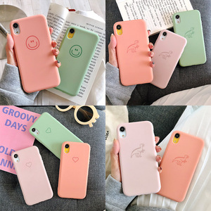 Image 2 - Plain Phone case Soft Silicone fitted case For iphone XR XS MAX 6 7 8 Plus dirt resistant  anti knock with free strap gift Hot