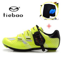 Tiebao Carbon Fiber Road Cycling Shoes add bike underwear Men PRO Racing Team Bike Shoes Athletics Bicycle Shoes Scarpe Ciclismo