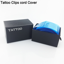 Safety Disposable Hygiene 100pcs Plastic Blue Tattoo Clip Cord Covers Bag For Tattoo Clip Cord Supply