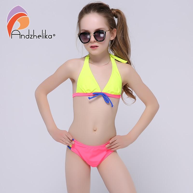 Andzhelika 2017 Summer Girls Bikini Cute Bow Two Piece