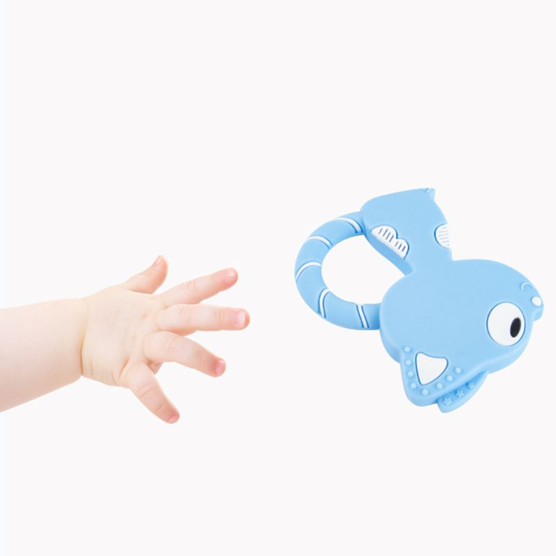 Maternal and Child Supplies Baby Teether New Animal Fox Shape Comfort Teething Infants Molars Anti eat Hand Bite Chew Products in Baby Teethers from Mother Kids