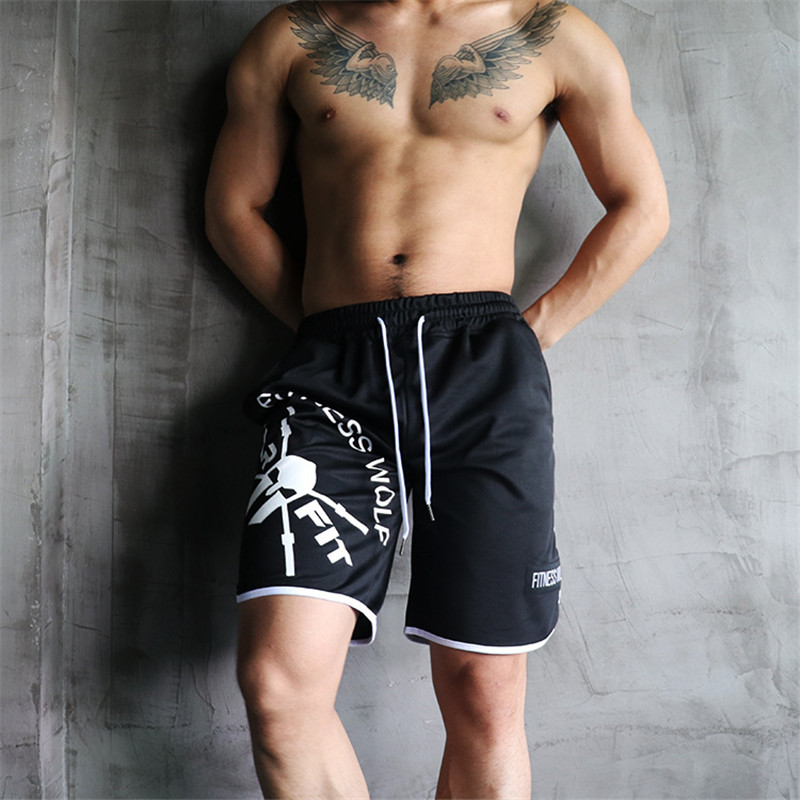 Summer Shorts For Men Straight Crossfit Mens Bodybuilding Shorts Skull Print Fitness Clothes Bermuda Masculina Casual Sweatpants