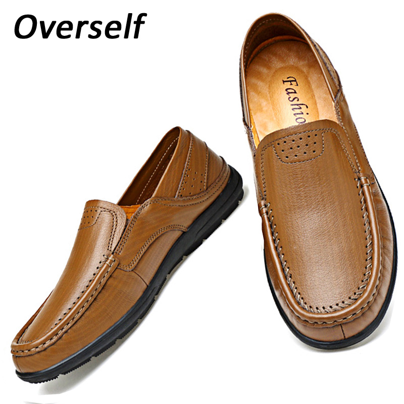 New Fashion Handmade Genuine Leather Men Casual Shoes Comfortable Driving  Men's Breathable Shoes Soft Moccasins Slip On Mens handmade genuine leather men s flats casual luxury brand men loafers comfortable soft driving shoes slip on leather moccasins