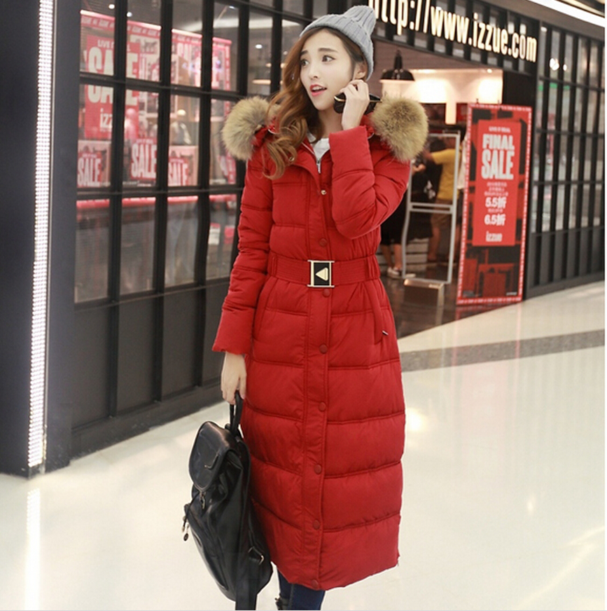 2016 High Quality Winter Slim X-long Women Design Down Jackets