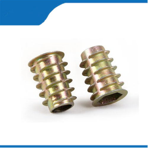 Wood nut insert 100pcs/lot M4/M5/M6 Furniture Wood Insert Nut Dowel Screw Fixing for Furniture Legs and Bun Feet