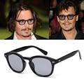 Super Star gafas de Sol Hombres Diseñador de la Marca Gafas de Sol de Las Mujeres Shades Johnny Depp Remache UV400 Gafas de Sol Del Color Del Caramelo Femenino