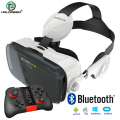 BOBOVR Z4 Helmet VR Glasses with Headphone VR Box Virtual Reality 3D Glasses for 4.7-6 Inch Smartphone Gift + Mocute Gamepad 050