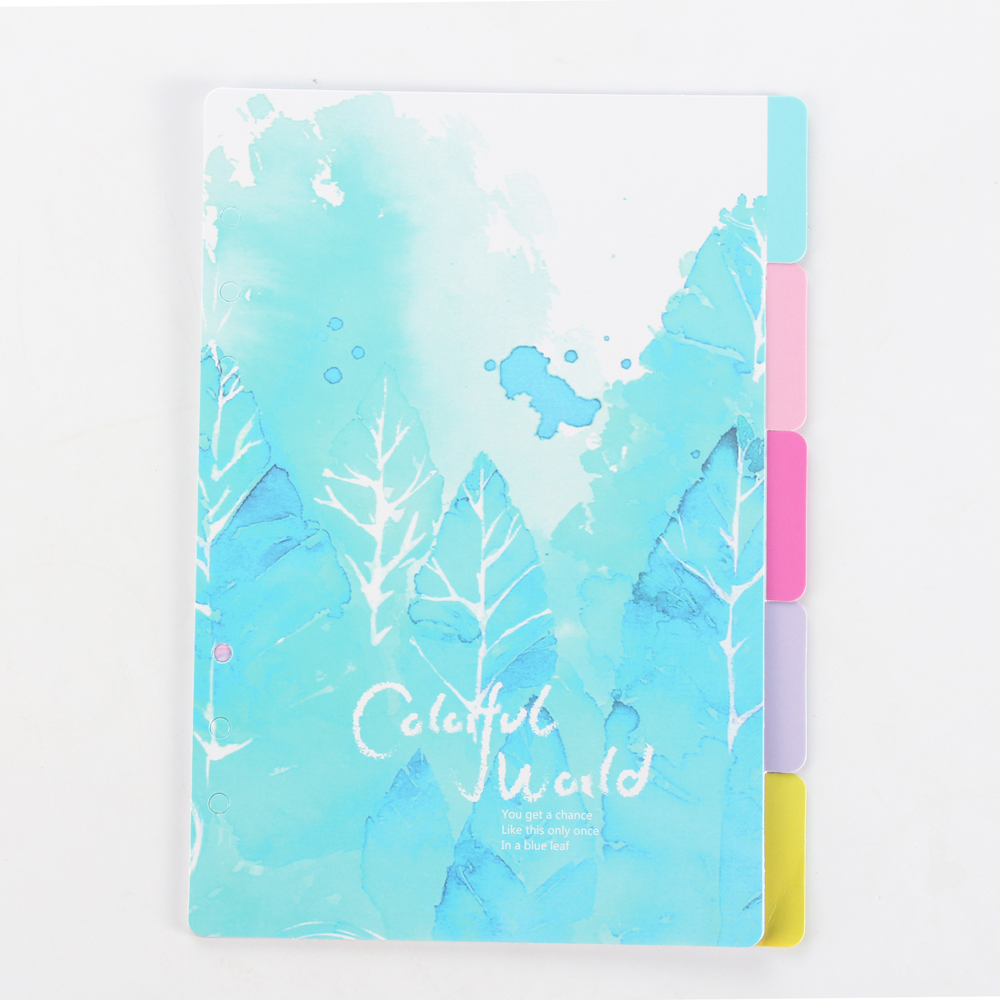 Cute Cartoon Spiral Notebooks Index Paper Set,candy Flower Series School Index Paper For Personal Diary Planner Stationery A6 A5