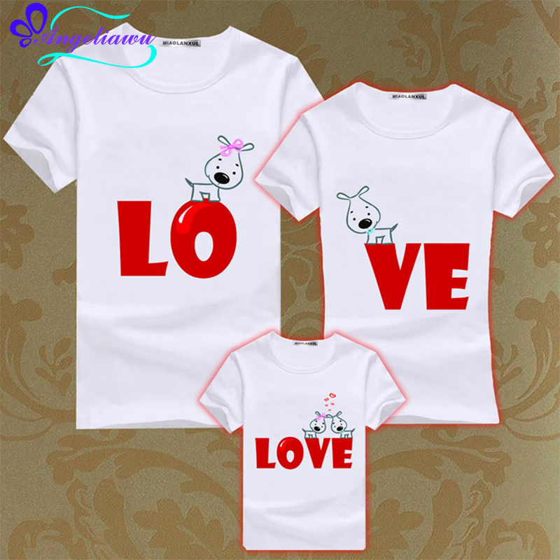 2017 new family clothing sets short sleeve dad mom baby family matching outfits mommy and me