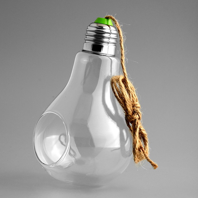 Light Bulb Shape Glass Hanging Hydroponic Plant Container Wedding Wall Deco Home Decoration Flowers Hanging Container 1