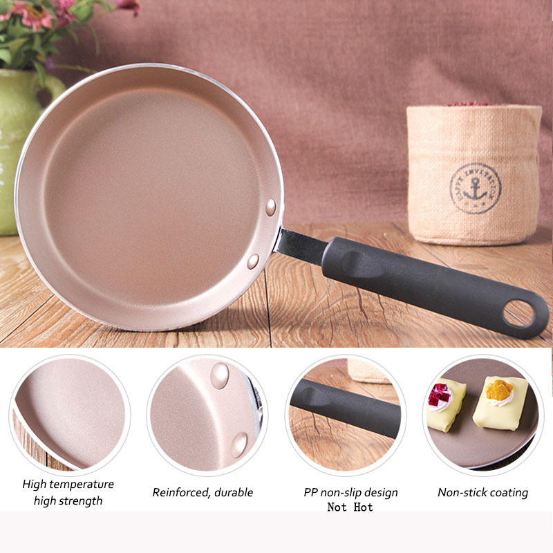 Non-stick Copper Saucepan Gas Induction Cooker Nonstick Skillet With Coating Oven Dishwasher Safe Pancake Pan No-hot Handle Pan