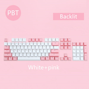 Image 4 - 104 Keys/set PBT keycaps Double shot Mechanical Keyboard Backlit Key Caps Pink Blue White For Ajazz AK35I And Other MX Switch