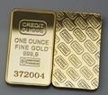 5 unids/lote Alta Calidad Suiza Credit Suisse barra del lingote de Oro no copia de oro lingote con número de serie del laser,