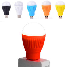 USB Night Light LED Bulb Camping Lamp Round Outdoor Emergency Lamp Laptop Computer Energy Saving Reading Book Light Random Color(China)