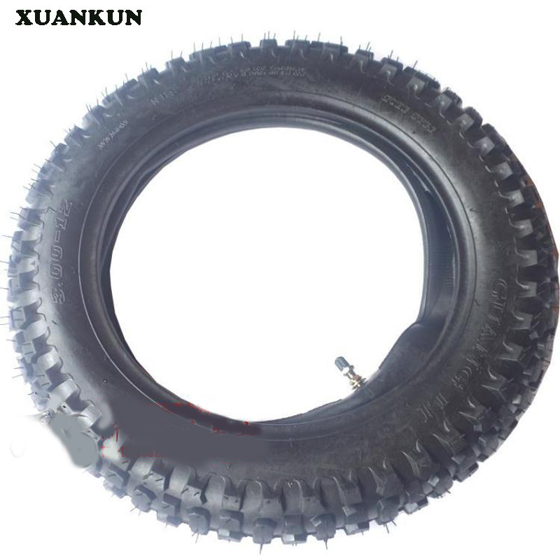 XUANKUN Off-Road Motorcycle 12-Inch Tire Wheel Tires Before The 2.50-14 Inch After 3.00-12 Inch Inside And Outside The Tire