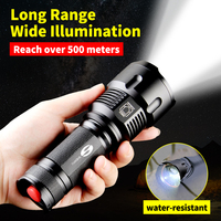 SHENYU Powerful Tactical LED Flashlight CREE XML T6 L2 Zoom Waterproof Torch for 26650 Rechargeable or AA Battery