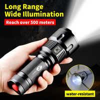 SHENYU potente linterna LED táctica CREE T6 L2 Zoom linterna impermeable para 26650 recargable o AA batería linterna de bicicleta