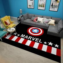 American style USA cartoon Carpet living room coffee table mat Super Soft Coral Fleece Living Room Kids Bedroom Mat Rug