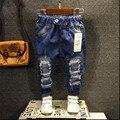 2016 novo nome da marca de roupas meninos Crianças calças de brim do furo personalidade casuais K243 fashing em para meninos longo calça crianças primavera