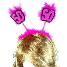 1pc Birthday feather headband